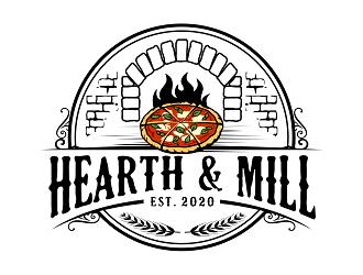 Hearth & Mill logo design winner
