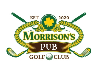 Morrisons Pub Golf Club logo design