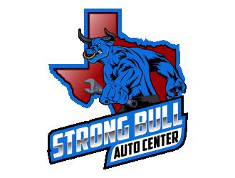 Strong Bull Auto Center logo design winner