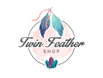 Twin Feather Shop  logo design