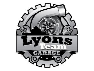 Lyons Team Garage logo design by Suvendu