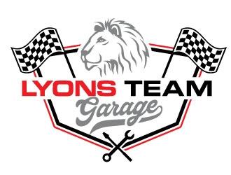 Lyons Team Garage logo design by REDCROW