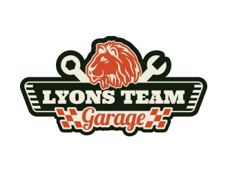 Lyons Team Garage logo design by yippiyproject