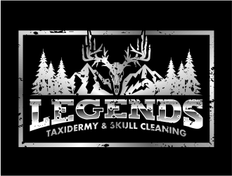 Legends Taxidermy & Skull Cleaning Logo Design