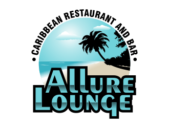 ALLURE LOUNGE (CARIBBEAN SEAFOOD RESTAURANT AND BAR) logo design