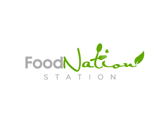 Food Nation Station logo design