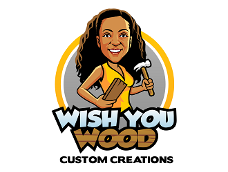 Wish You Wood Custom Creations logo design