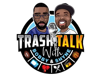 Trash Talk w/ Bobby & Shyne logo design