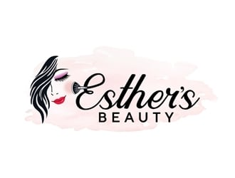 Esther's Beauty  logo design