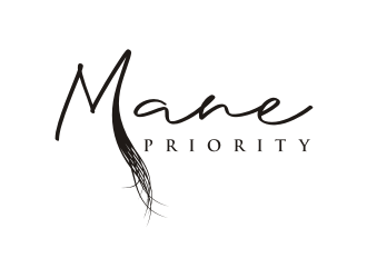Mane Priority logo design