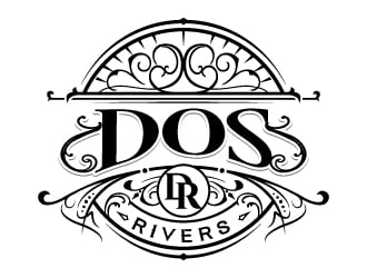 Dos Rivers logo design