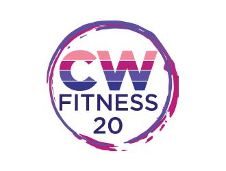 CW Fitness 20 logo design