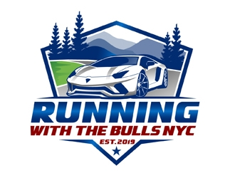 Running with the Bulls NYC  logo design