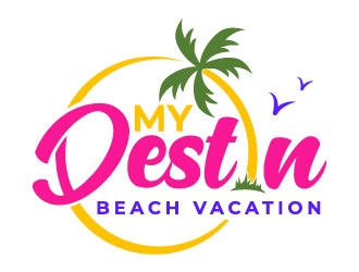 My Destin Beach Vacation logo design