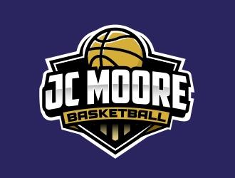 JC Moore Basketball logo design by adm3