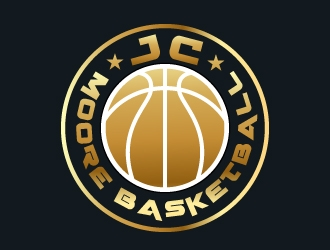 JC Moore Basketball logo design by aryamaity