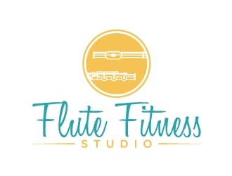 Flute Fitness Studio logo design