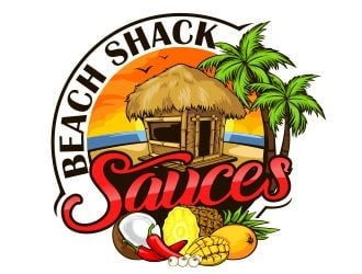 Beach Shack Sauces logo design winner
