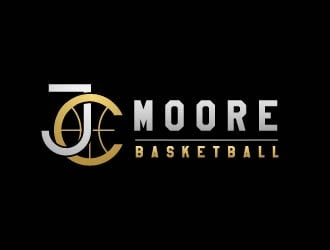 JC Moore Basketball logo design