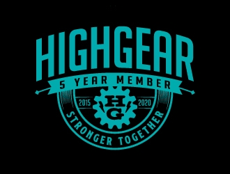Living The HighGear Life logo design