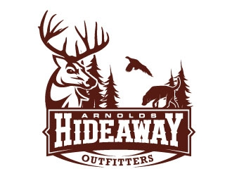 Arnolds hideaway outfitters logo design