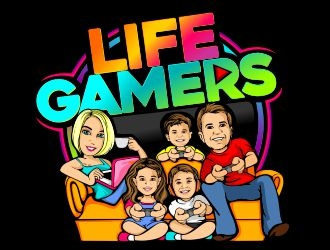 Life Gamers logo design