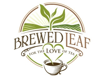 Brewed Leaf Love logo design