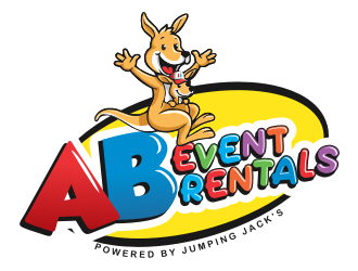 AB Event Rentals powered by Jumping Jacks logo design