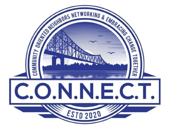 C.O.N.N.E.C.T. (Community Oriented Neighbors Networking & Embracing Change Together) Logo Design