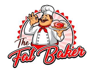 The Fat Baker logo design