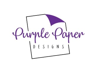 Purple Paper Designs logo design