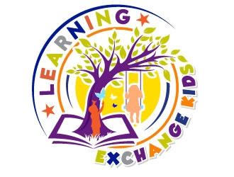 Learning Exchange Kids logo design