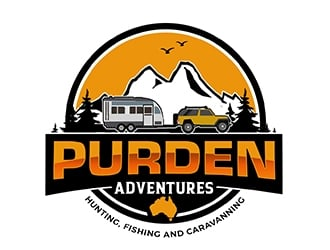 Purden outdoors logo design