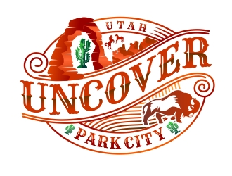 Uncover Park City logo design