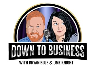 Down To Business with Bryan Blue & Jme Knight logo design