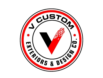 V Custom Exteriors & Design Co. logo design
