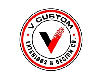 V Custom Exteriors & Design Co. logo design winner