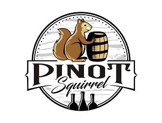Pinot Squirrel logo design
