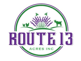 Route 13 Acres Inc logo design