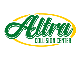 Altra Collision Center logo design
