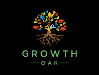 Growth Oak logo design