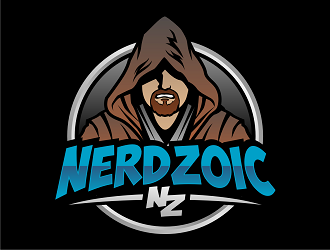 Nerdzoic logo design