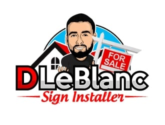 D LeBlanc Sign Installer logo design