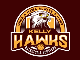 Kelly Hawks Basketball Boosters logo design