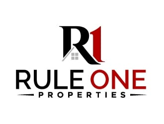 Rule One Properties logo design