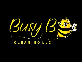 Busy B Cleaning logo design