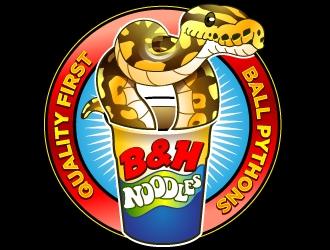 B&H Noodles logo design