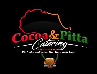 Cocoa & Pitta Catering (African Cuisine) logo design