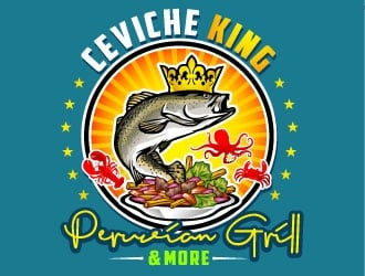 CEVICHE KING    PERUVIAN GRILL & more logo design