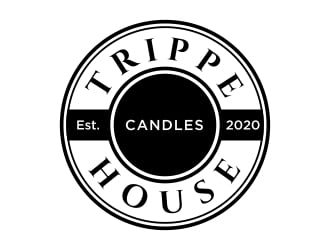 Trippe House Candles logo design